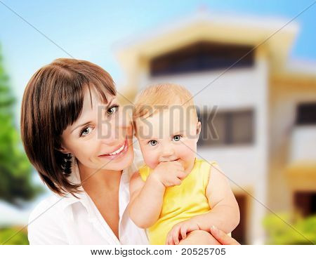 Mother And Baby Portrait