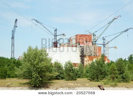 Chernobyl nuclear power station abandoned construction of reactor 5-6