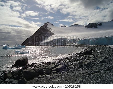 Sun on Antartic Islands