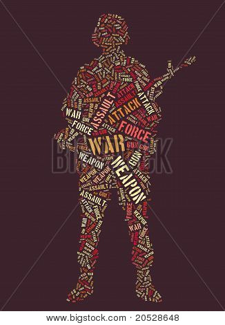 Tagcloud of soldier