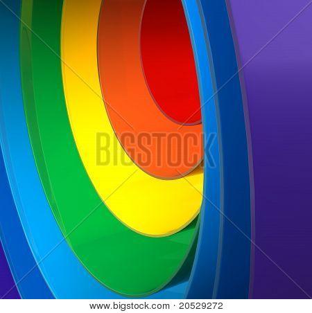 Close Up Of A Rainbow