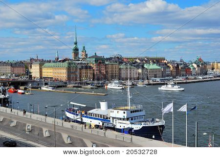Stockholm. View Of The Old Town And Slussen