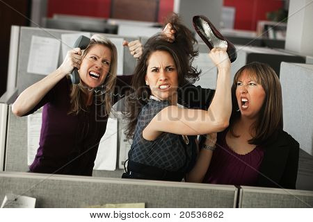 Three Women Quarreling