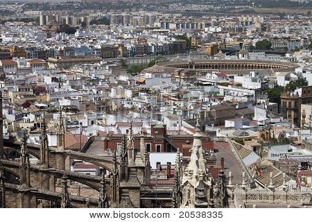 Aerial view of Sevilla