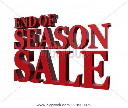 End Od Season Sale.