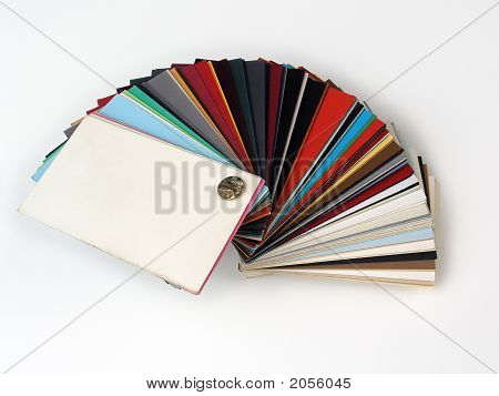 Paper Samples On White Bakground