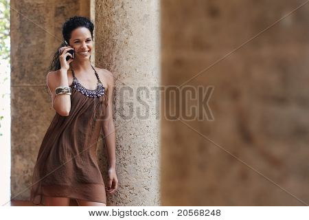 Woman Talking On Cellphone