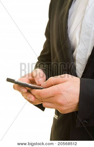 Manager Writing A Text Message