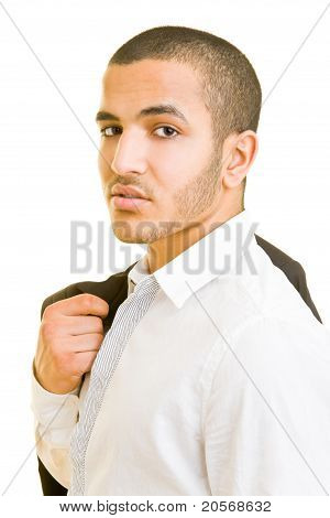 Business Man Carrying His Jacket