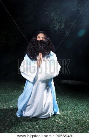 Jesus Looking To Heaven In Prayer