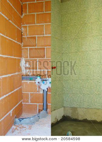 Badezimmer Umbau im Gange