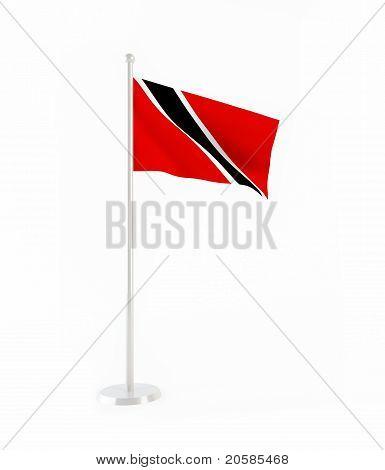 3D flag of Trinidad and Tobago