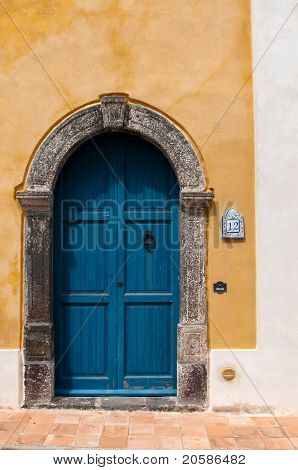 Authentic door at Santa Marina di Salina