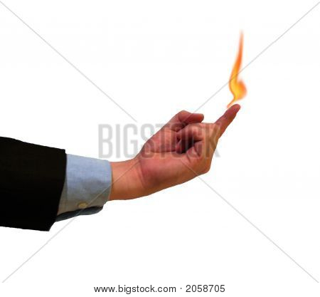 Holding Fire On Finger