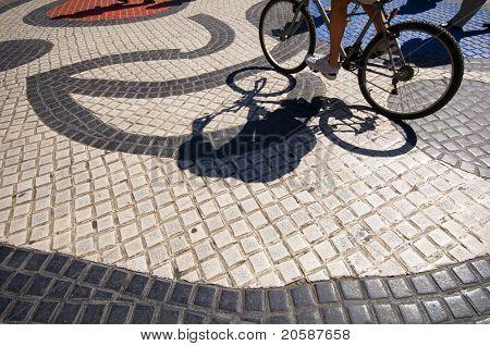 Famous Art Work Tile Mosaic La Rambla Barcelona Spain