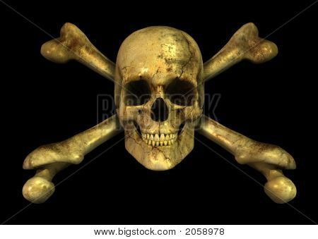 Grunge cráneo Crossbones