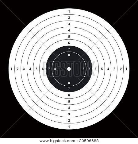 Shooting target. Vector.