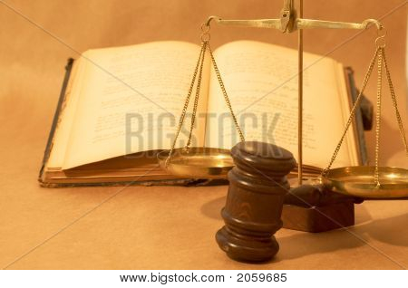 Gavel And Books