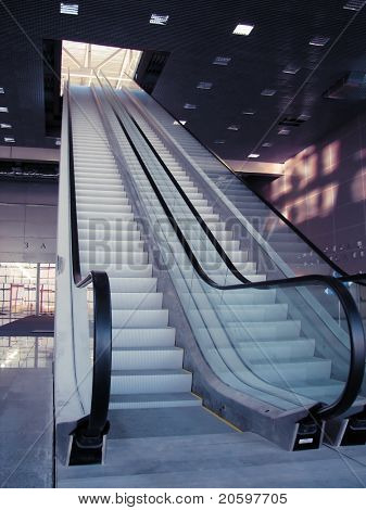 escalator one flight to the next level