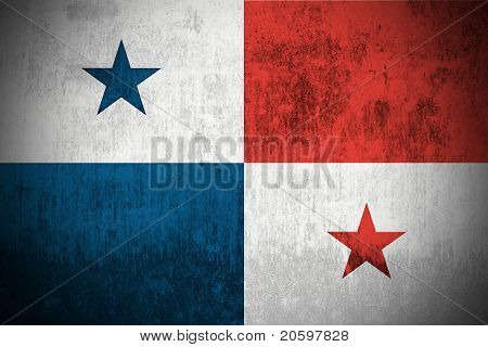 Weathered Flag Of Panama, fabric textured