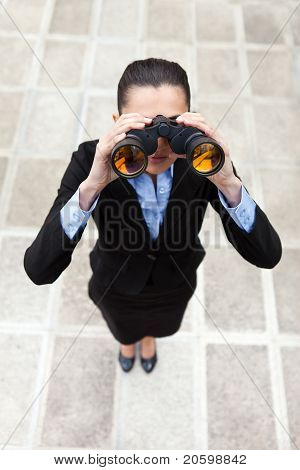 Businesswoman With Binocular