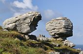 stock photo of errat  - Limestone Glacial Erratic Boulders Caher Valley The Burren - JPG