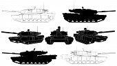 image of abram  - Military Armour Battle Tank Isolated Illustration Vector - JPG