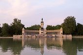 Retiro Park In Madrid, Spain. Parque Del Buen Retiro - Park Of The Pleasant Retreat poster