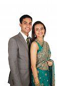 stock photo of traditional attire  - Indian couple in traditional wear - JPG