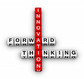 picture of marketing strategy  - forward thinking innovation 3d crossword puzzle series - JPG