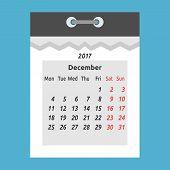 Tear-off Calendar, December 2017 poster