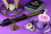 image of pentacle  - tarot cards - JPG