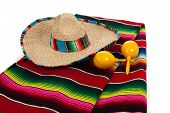 stock photo of maracas  - Mexican Serape - JPG