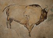 pic of aurochs  - A reconstruction of an ancient cave painting - JPG