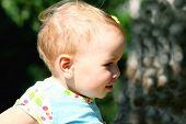 Picture of joyful little girl.