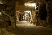stock photo of catacombs  - Old catacombs of Saint Giovanni - JPG