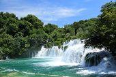 picture of blue sky  - National Park Krka river Krka in Croatia - JPG