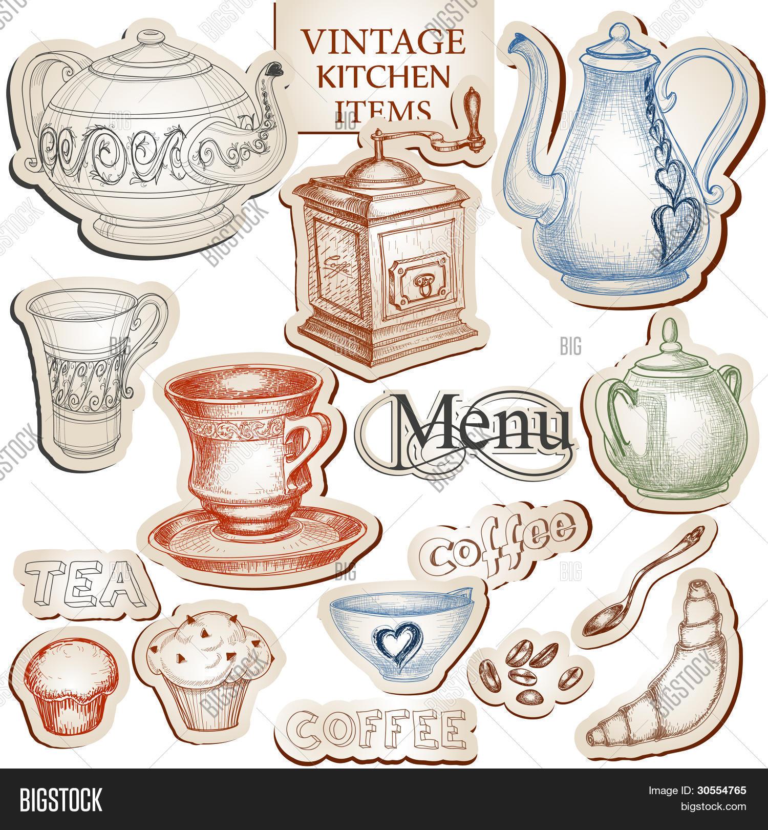 Accesorios De Cocina Vintage. Accesorios De Cocina Vintage Con Mucho ...