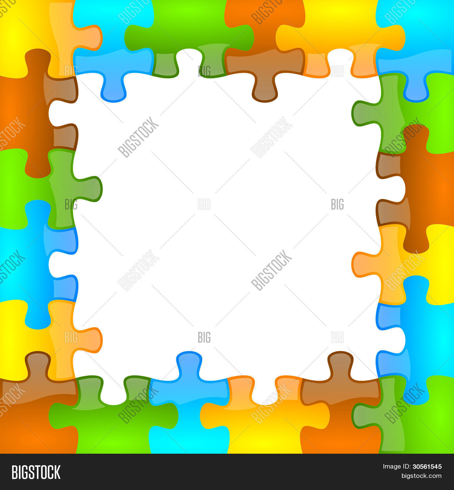 Color Glossy Puzzle Frame 6 X 6 Image & Photo | Bigstock