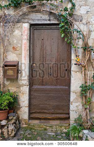 Old Brown Door