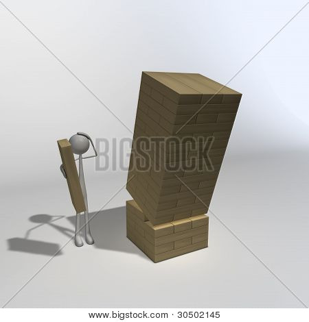 Figure Playing Jenga 01