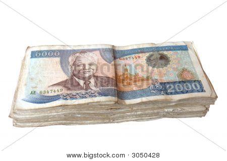 Stack Of Laos Kip Bills