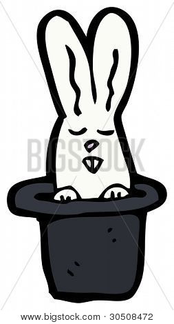 white rabbit in hat cartoon