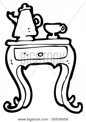 coffee table cartoon