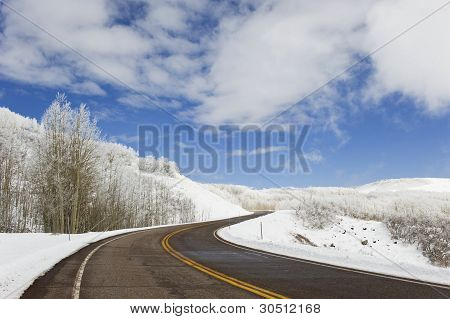 Road Over Mountain Top,winter