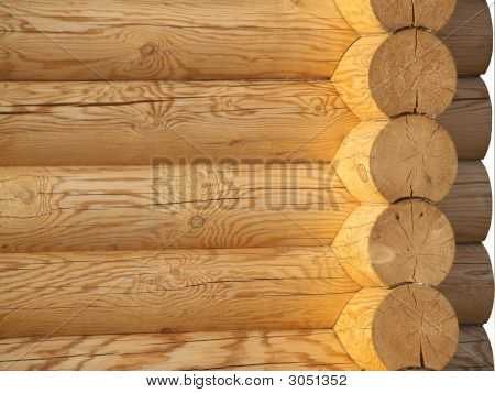 Wooden Wall And Corner