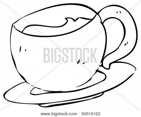 sketchy teacup drawing