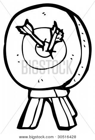 archery target cartoon