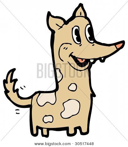 funny dog with wagging tail cartoon