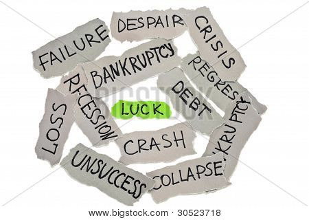 Luck In Business Concept